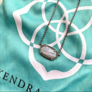 Kendra Scott Elise Necklace Blue Lace Agate